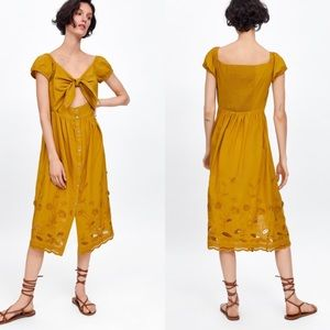 Zara Floral Embroidered Summer Dress